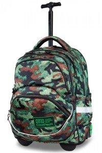 Plecak CoolPack STARR na kółkach zielone moro, CAMO FUSION GREEN (B35095)
