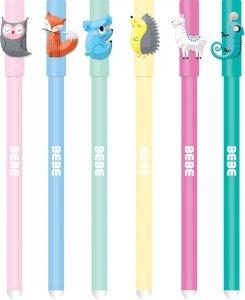 6x Długopis B&B wymazywalny żelowy 0,5 mm INTERDRUK (78548SET6CZ)