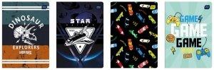 4x Zeszyt A5 w kolorową linię 32 kartki CHŁOPIĘCY, INTERDRUK mix (76056SET4CZ)