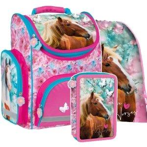 ZESTAW 3 el. Tornister szkolny ergonomiczny I LOVE HORSES Konie (TEMBKO19SET3CZ)