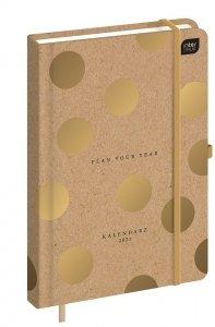 Kalendarz książkowy A5 KROPKI 2021 (92834)