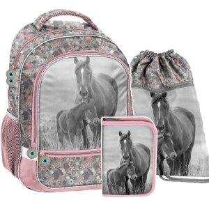 ZESTAW 3 el. Plecak szkolny HORSES Konie Paso (PP20KO-260SET3CZ)