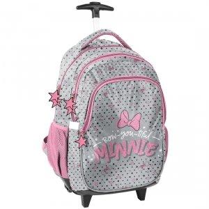 Plecak szkolny na kółkach Myszka Minnie, MINNIE MOUSE (DNF-997)