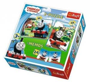 Puzzle 2w1 + memo Trefl, Tomek i Przyjaciele (90602)