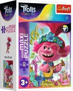 TREFL Puzzle miniMaxi 20 el. TROLLE W świecie muzyki (21092)