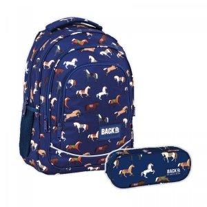ZESTAW 2 el. Plecak szkolny młodzieżowy BackUP 26 L KONIE (PLB4X19SET2CZ)