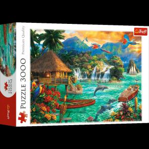 TREFL Puzzle 3000 el. Życie na wyspie (33072)