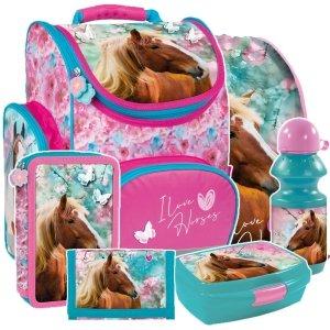 ZESTAW 6 el. Tornister szkolny ergonomiczny I LOVE HORSES Konie (TEMBKO19SET6CZ)