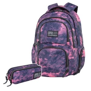 ZESTAW 2 el. Plecak CoolPack AERO mglisty różowy, FOGGY PINK (C34132SET2CZ)