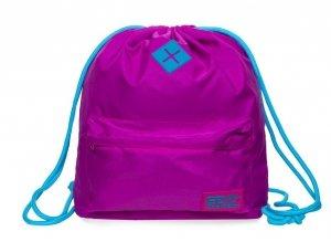 Plecak Sportowy Worek na sznurkach CoolPack URBAN różowy z niebieskimi dodatkami, PINK/JADE (B1303)