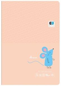 Zeszyt A5 w kratkę 32 kartek B&B MOUSE myszka (61298)