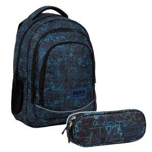 ZESTAW 2 el. Plecak szkolny młodzieżowy BackUP 26 L WZORY (PLB3X46SET2CZ)