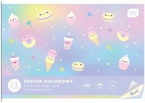 Zeszyt papierów kolorowych pastelowych A5 PASTEL Interdruk mix (94159)