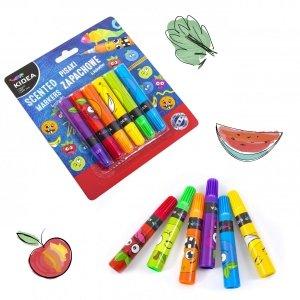 Pisaki zapachowe owocowe KIDEA 6 kolorów (PZA6KA)