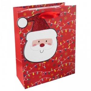 Torebka świąteczna na prezent MIKOŁAJ Incood. (0071-0309)