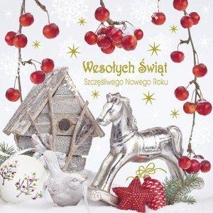 Kartka świąteczna kwadratowa BOŻE NARODZENIE 15 x 15 cm + koperta (43941)