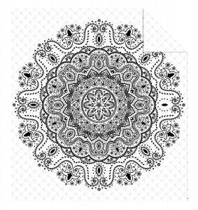 Narzuta na łóżko 220 x 240 cm ORIENT BLACK (WZ.K021)