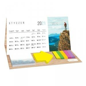 Kalendarz na biurko 2021 PODRÓŻE z karteczkami INTERDRUK (74076)