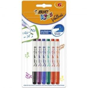 Marker suchościeralny do tablic Velleda mini 6 kolorów (07426)