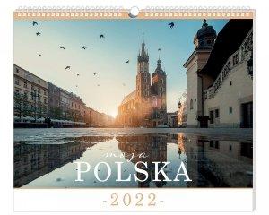 Kalendarz ścienny planszowy POLSKA miasta widoki 40 x 33,5 cm 2021 (01178)