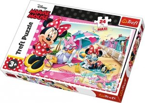 TREFL Puzzle MAXI 24 el. Wakacje Minnie, Myszka Minnie (14292)