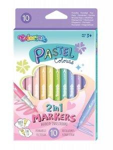 Flamastry dwustronne pastelowe 10 kolorów COLORINO KIDS (80875PTR)