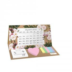 Kalendarz na biurko 2021 BOTANIC z karteczkami INTERDRUK (74083)