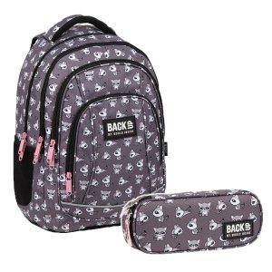 ZESTAW 2 el. Plecak szkolny młodzieżowy BackUP 26 L SZOPY (PLB3A26SET2CZ)