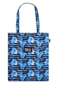 Torba na ramię CoolPack SHOPPER BAG niebieskie kwiaty, BLUE MARINE (C79261)