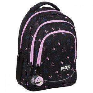 Plecak szkolny młodzieżowy BackUP 26 L Myszka Minnie, MINNIE CZARNY (PLB3XMM67)