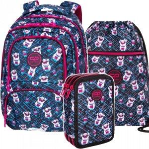 ZESTAW 3 el. Plecak CoolPack SPINER 24 L pieski, DOGS TO GO (D001322SET3CZ)