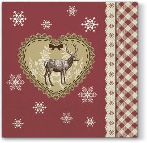 Serwetki świąteczne BOŻONARODZENIOWE, Paw (SDL097500)