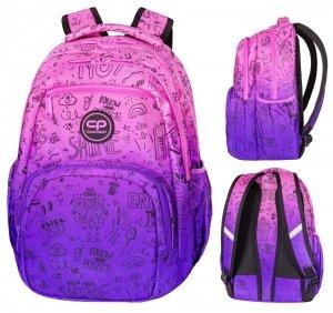 Plecak CoolPack PICK  fioletowe ombre, PURPLE SCRIBBLE (D100341)