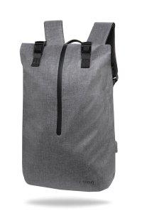 Plecak męski na laptopa 13-15,6'' z USB Hopper Gray Szary R-Bag (Z032)