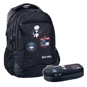 ZESTAW 2 el. Plecak szkolny młodzieżowy kosmici, UFO Paso (PPUF20-2808SET2CZ)