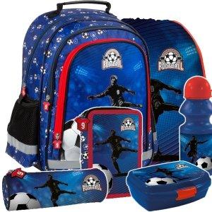 ZESTAW 6 el. Plecak szkolny FOOTBALL Piłka nożna (PL15BPI15SET6CZ)