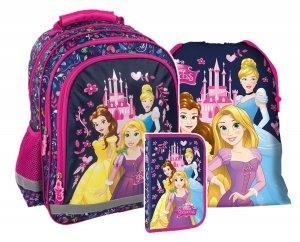ZESTAW 3 el. Plecak szkolny PRINCESS Księżniczki (PL15BKS10SET3CZ)