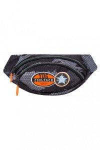 SASZETKA NERKA CoolPack na pas torba ALBANY z naszywkami, BADGES B BLACK (B75152)