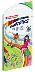 Kredki trójkątne Funtastics Dance 12 kolorów (65823)
