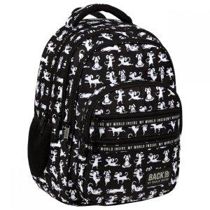 Plecak szkolny młodzieżowy BackUP 28 L PSY JOGA (PLB3M34)