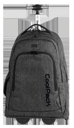 Plecak szkolny młodzieżowy na kółkach COOLPACK SUMMIT czarny, SNOW BLACK 863 (72373)