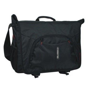 Torba na ramię na laptop PREMIUM, czarna (12AB03)
