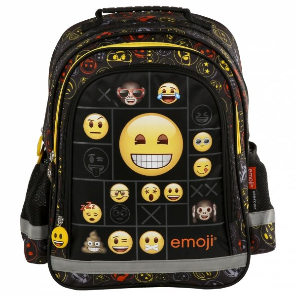 ZESTAW 4 el. Plecak szkolny Emoji EMOTIKONY (PL15BEM11SET4CZ)
