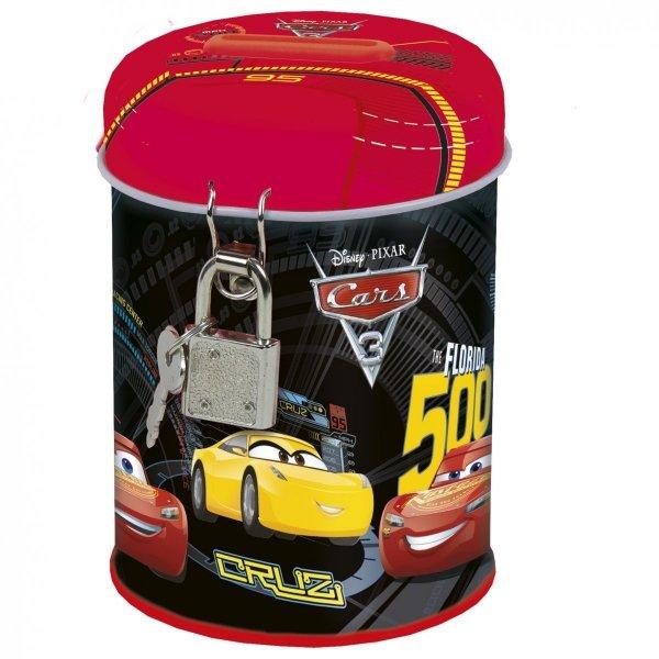 Zestaw Upominkowy 5 el. Kuferek oklejany Cars Auta, licencja Disney (KOCASET)