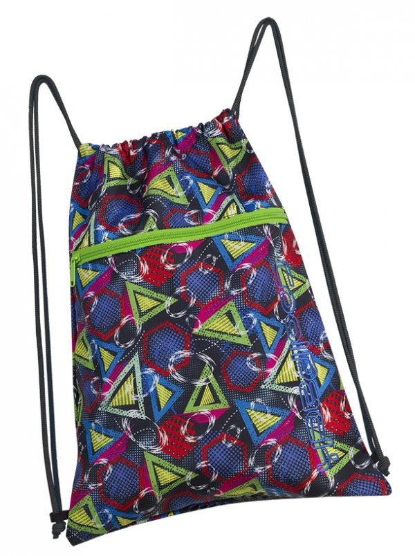 WOREK CoolPack SHOE BAG sportowy na obuwie kolorowe wzory geometryczne, GEOMETRIC SHAPES (85373CP)