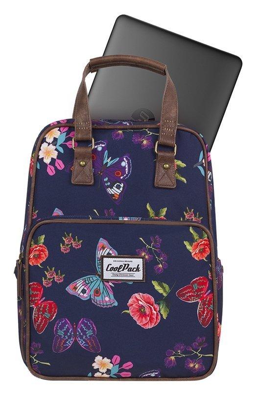 16f4c3bd660d6 Plecak CoolPack CUBIC 2w1 torebka niebieski w kwiaty i motyle, SUMMER DREAM  (12430CP)