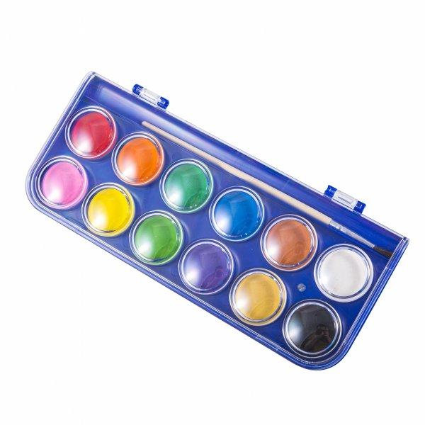 Farby akwarelowe wodne 12 kolorów KIDEA (FA12KKA)