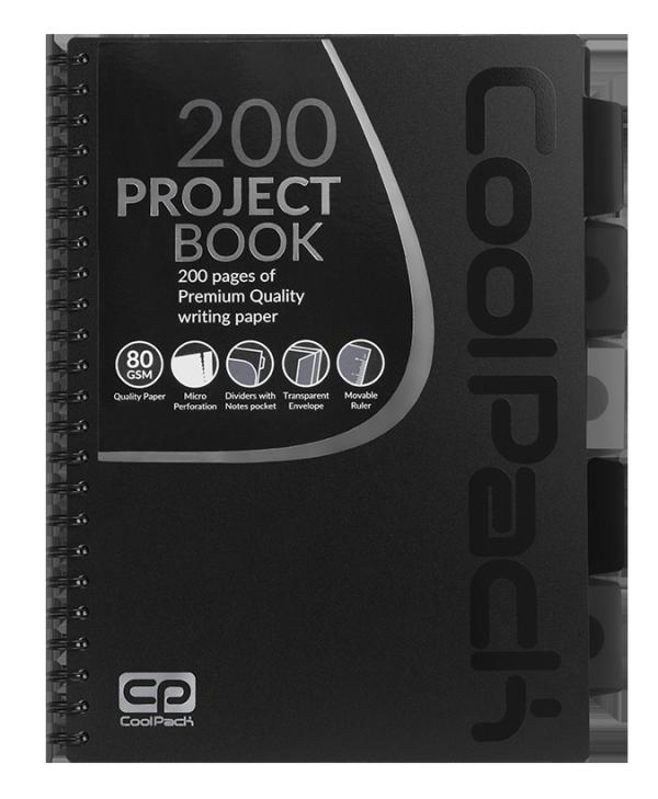 Kołobrulion kołozeszyt A4 200 stron CZARNY CoolPack (94108CP)
