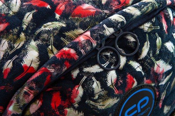 Plecak CoolPack miejski RUBY piórka na granatowym tle FEATHERS BLUE (22752)