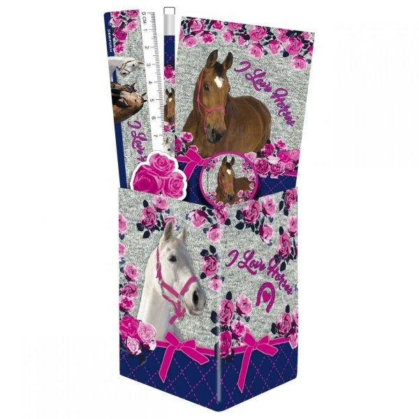 Zestaw przyborów szkolnych w puszce I Love Horses KONIE (ZPSPKO13)